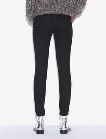 ARMANI EXCHANGE J27 SUPER-SKINNY RIPPED BLACK BUTTON-FLY JEAN Skinny jeans [*** pickupInStoreShipping_info ***] e