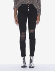 ARMANI EXCHANGE J27 SUPER-SKINNY RIPPED BLACK BUTTON-FLY JEAN Skinny jeans [*** pickupInStoreShipping_info ***] f