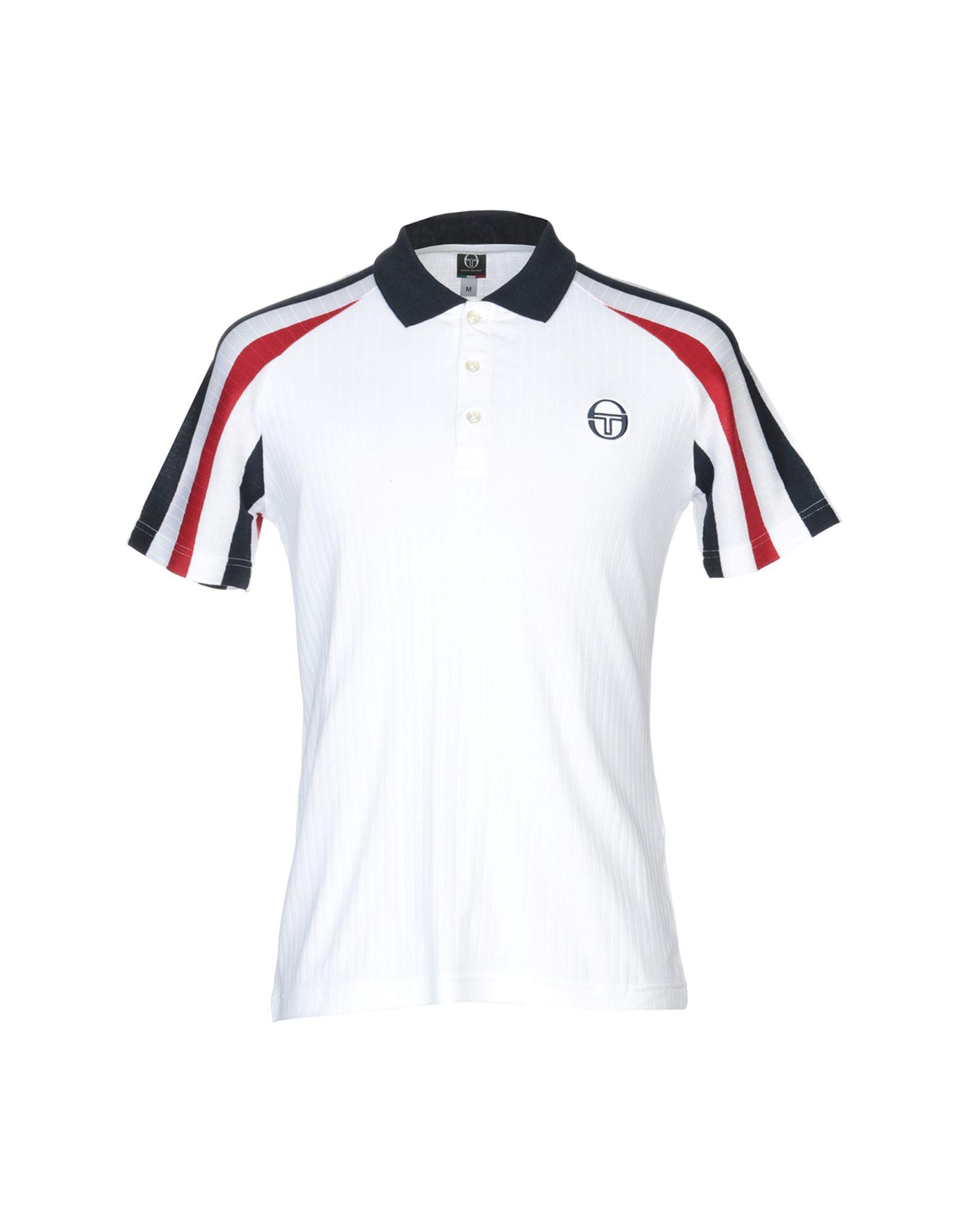 《送料無料》SERGIO TACCHINI メンズ ポロシャツ ホワイト S コットン 100%