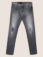 ARMANI EXCHANGE J14 SKINNY THREADBARE GREY JEAN Skinny jeans [*** pickupInStoreShippingNotGuaranteed_info ***] r