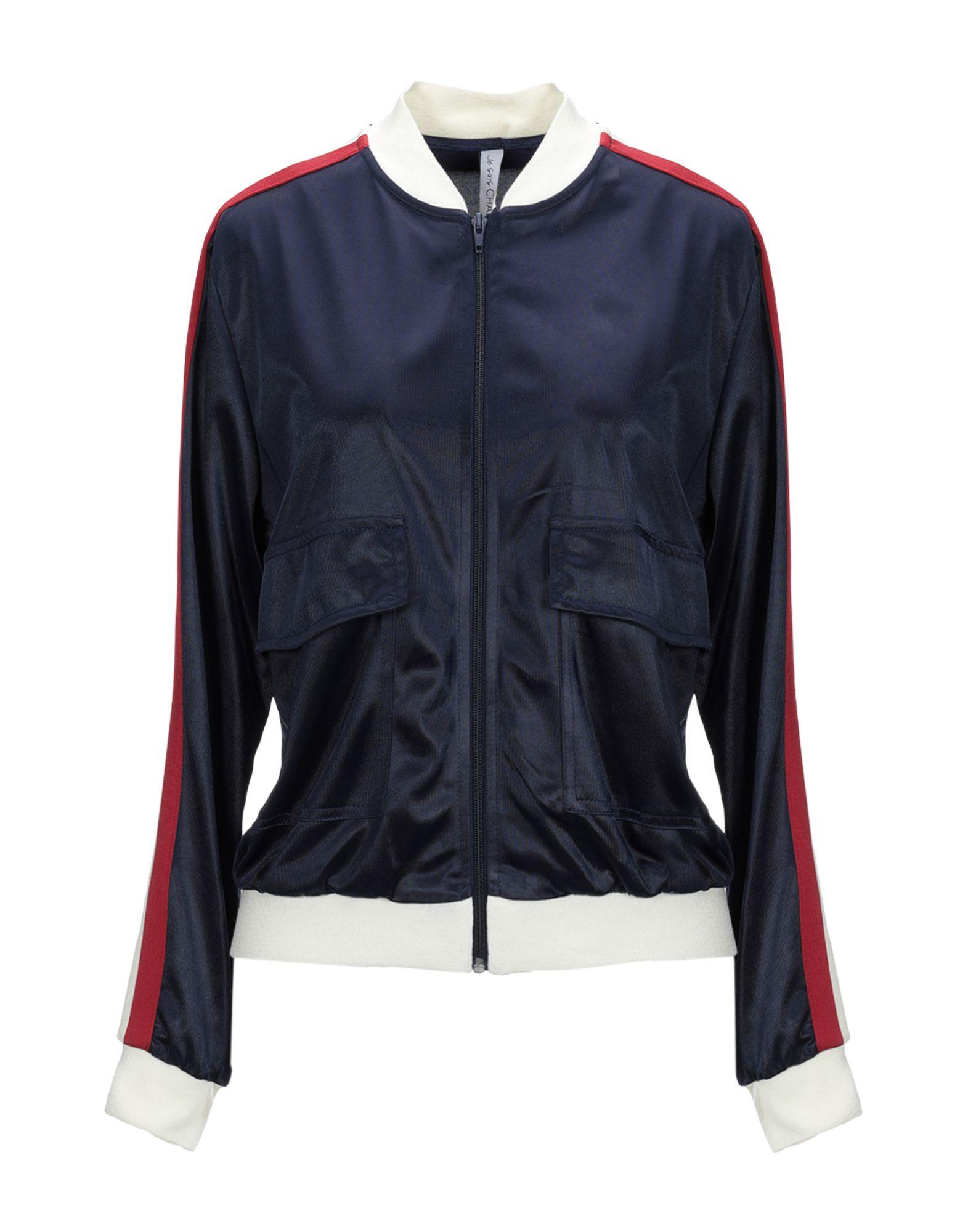 《送料無料》JE SUIS CHAPEAU レディース スウェットシャツ ダークブルー S ポリエステル 100%