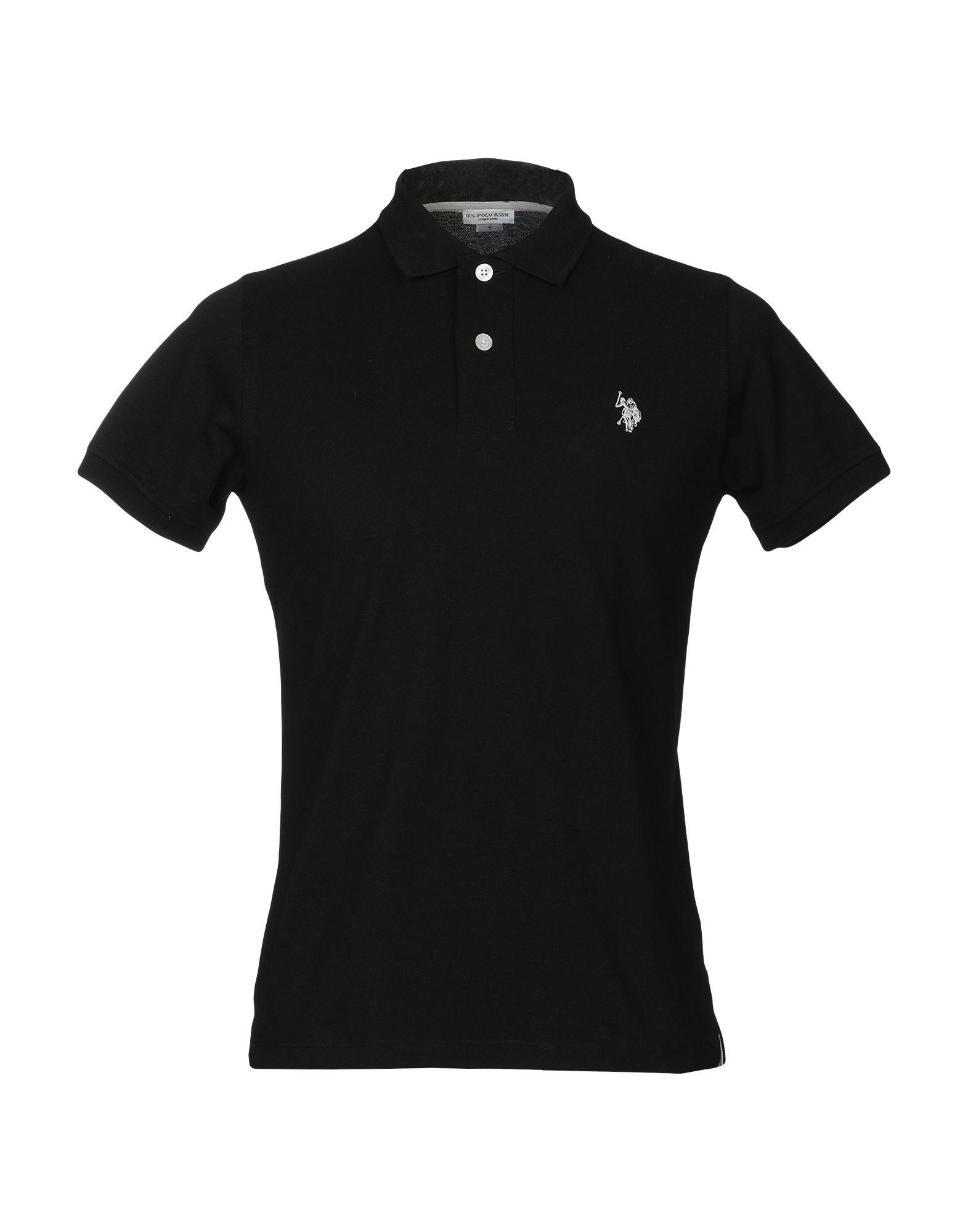 《送料無料》U.S.POLO ASSN. メンズ ポロシャツ ブラック S コットン 100%