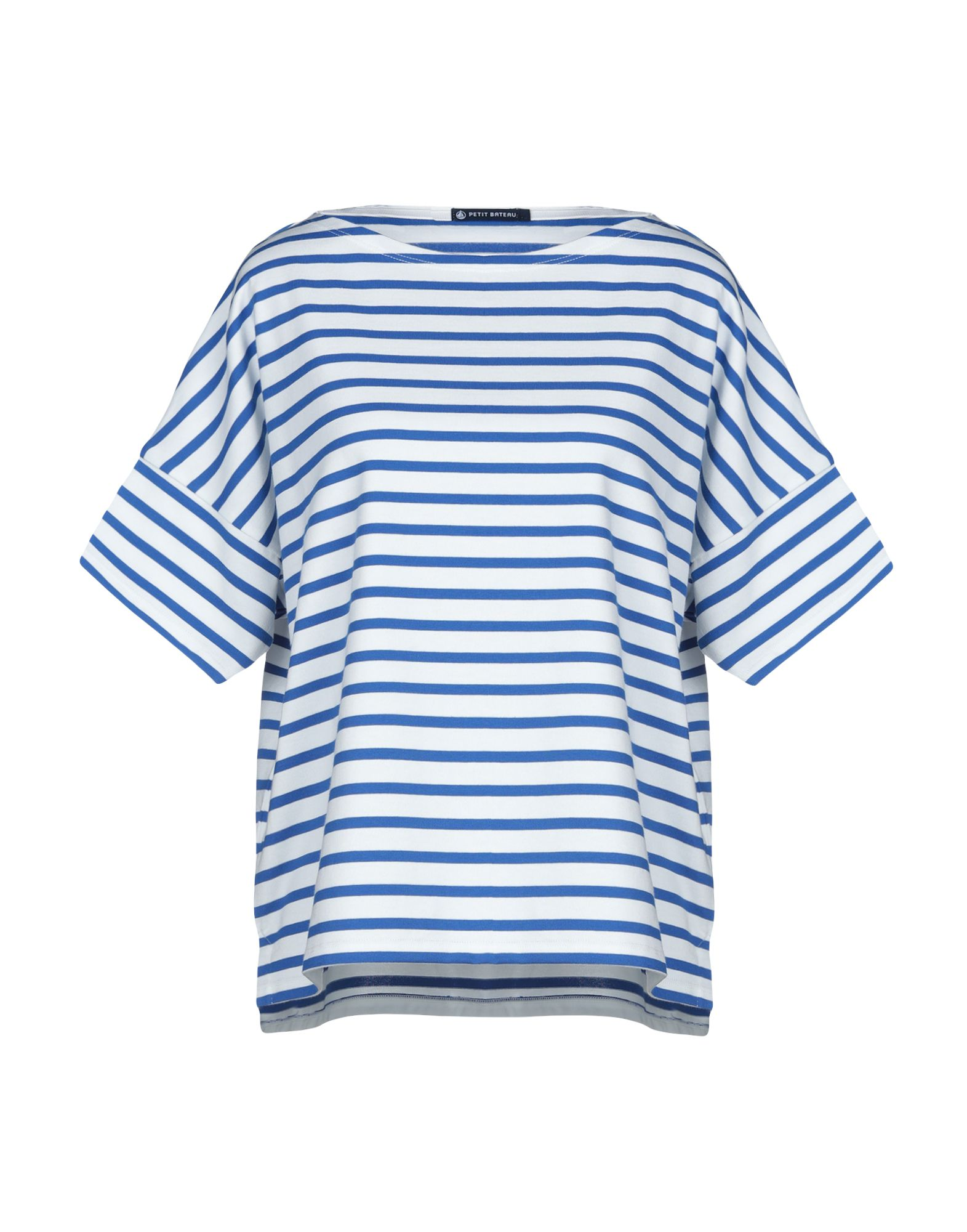 PETIT BATEAU Футболка light grey slit design bateau long sleeves top