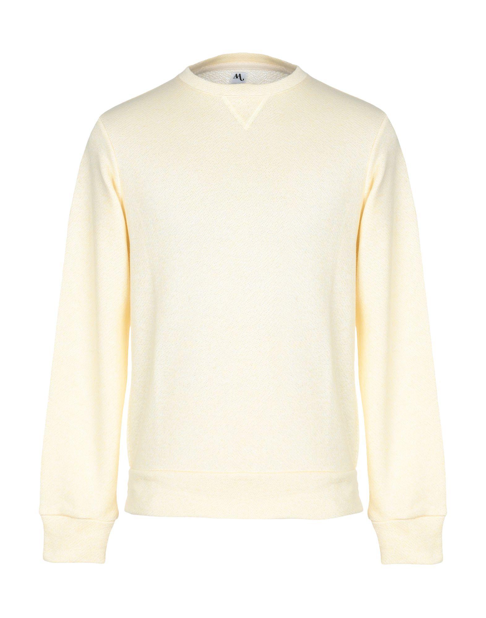 《期間限定セール開催中!》DOPPIAA メンズ スウェットシャツ ライトイエロー L コットン 100%