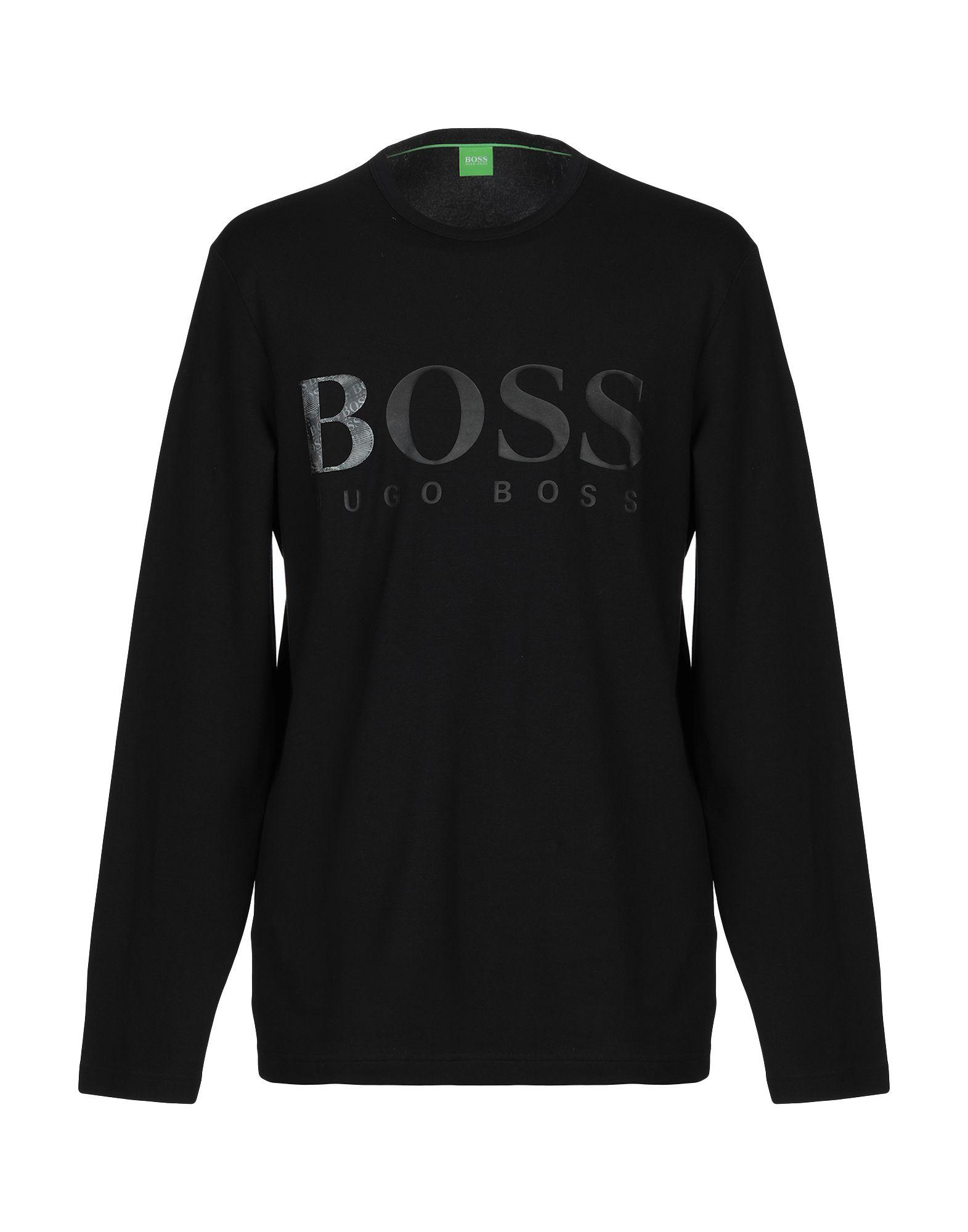 BOSS GREEN Футболка boss green черная хлопковая футболка с логотипом