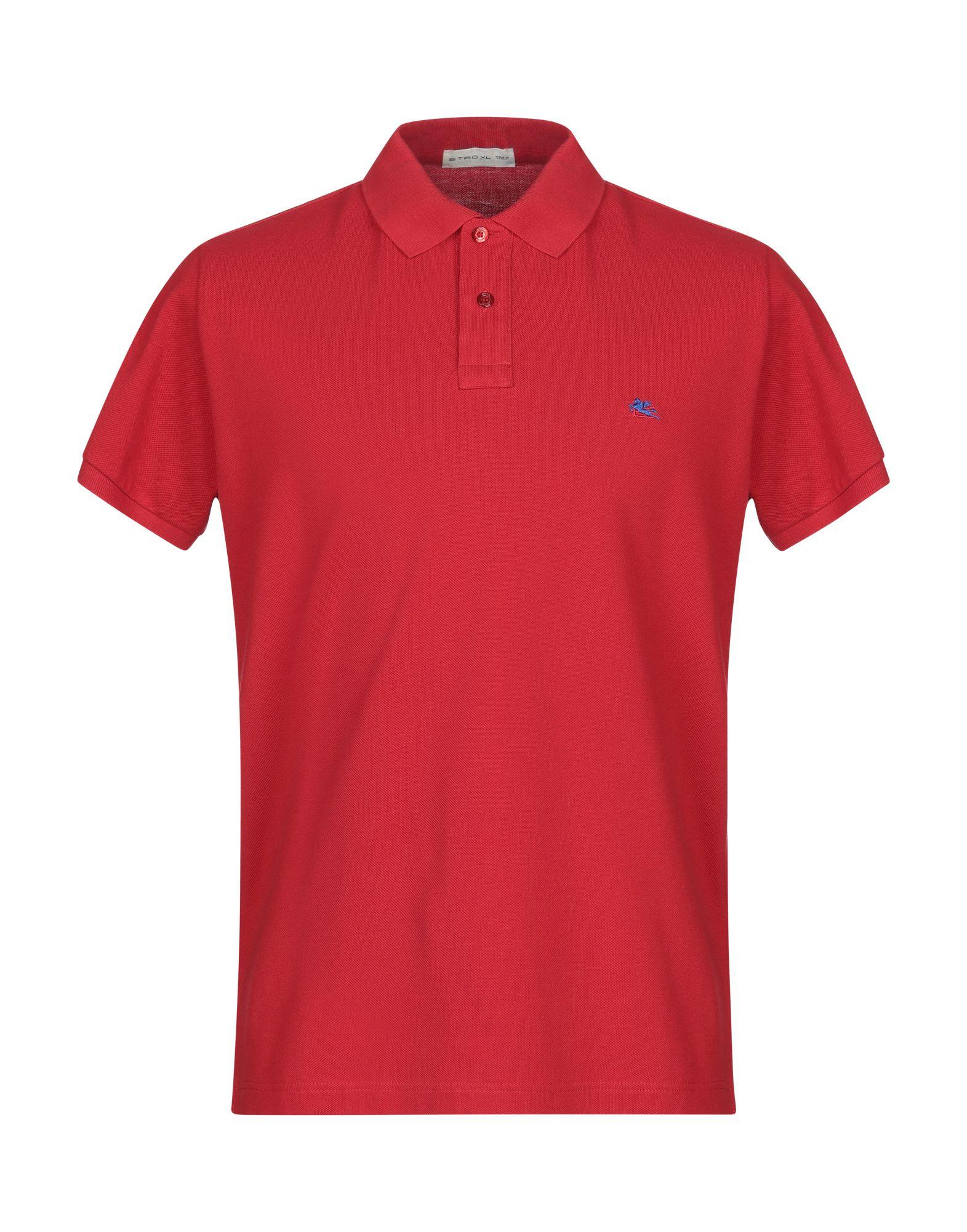 《送料無料》ETRO メンズ ポロシャツ レッド XL コットン 100%