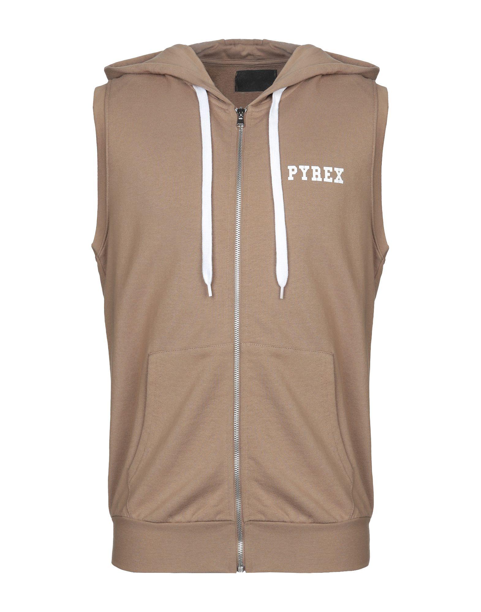《送料無料》PYREX メンズ スウェットシャツ カーキ XS コットン 100%