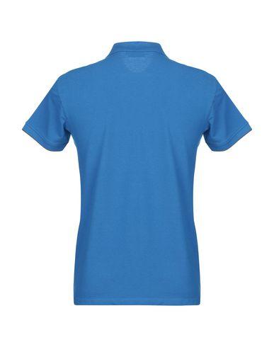 Фото 2 - Мужское поло  ярко-синего цвета