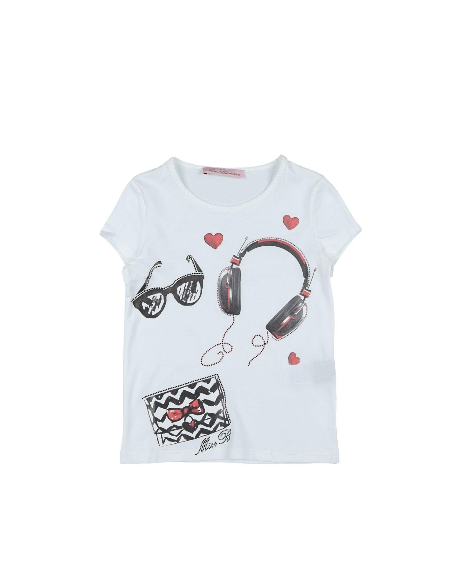 Miss Blumarine Kids' T-shirts In White