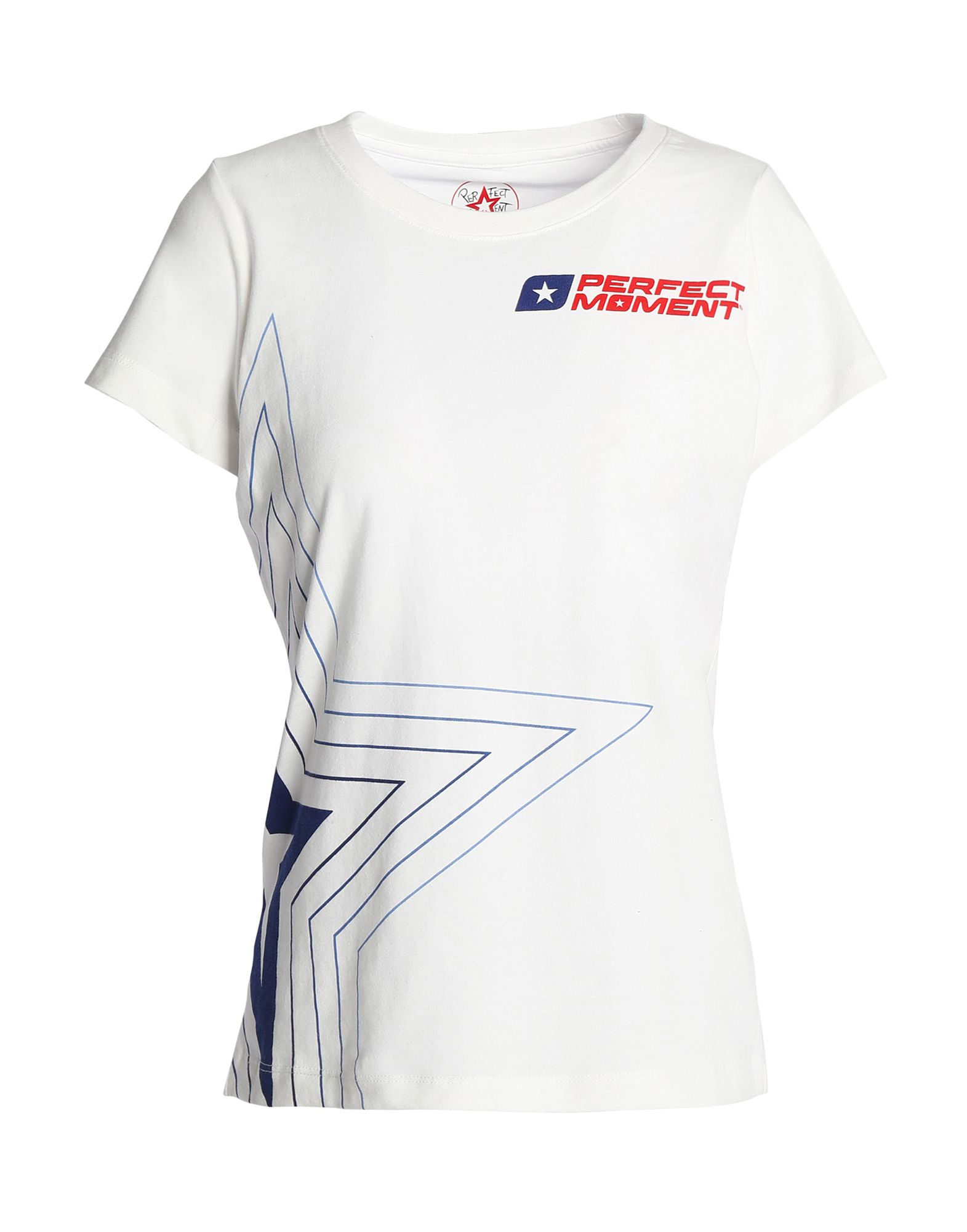 《セール開催中》PERFECT MOMENT レディース T シャツ ホワイト XS コットン 100%