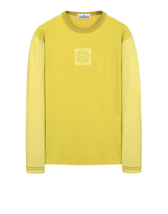 STONE ISLAND Long sleeve t-shirt 24436 JERSEY PLACCATO