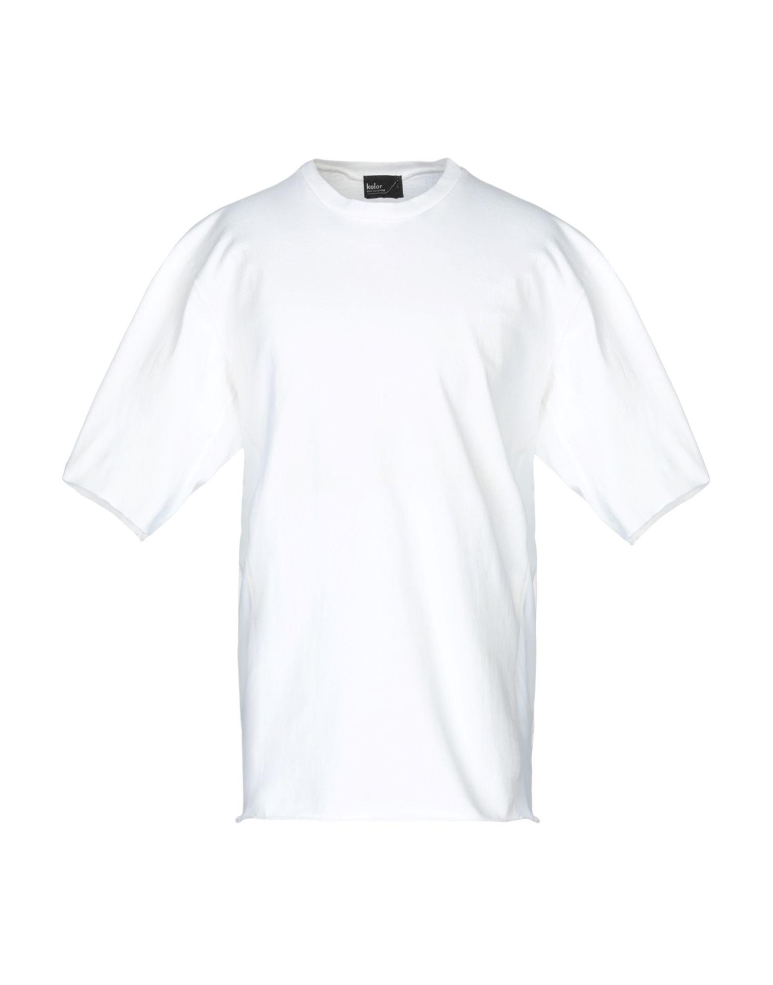 《送料無料》KOLOR メンズ スウェットシャツ ホワイト 3 コットン 100%