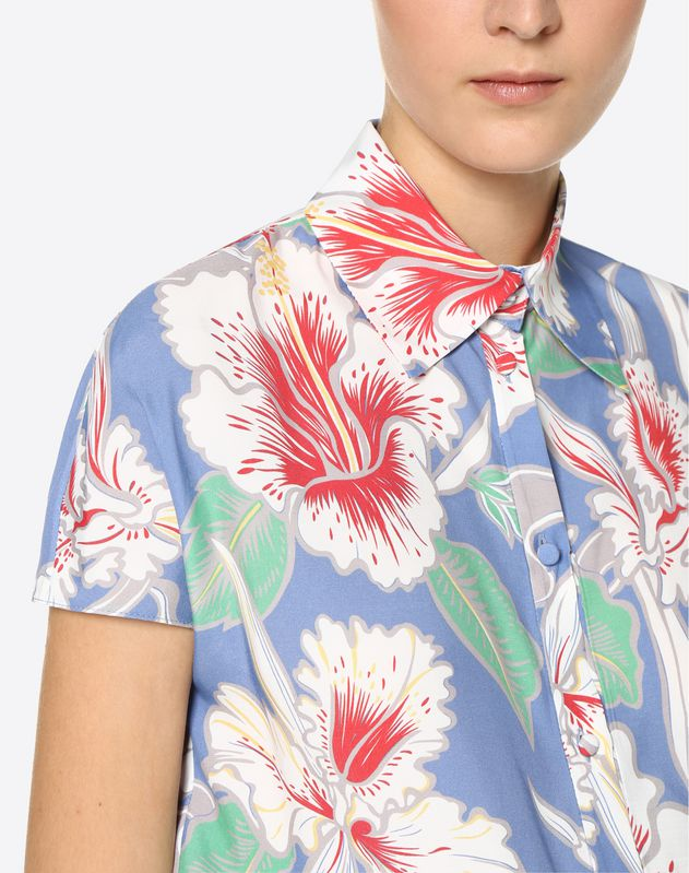 Hawaiian Hibiscus Viscose Canvas Shirt