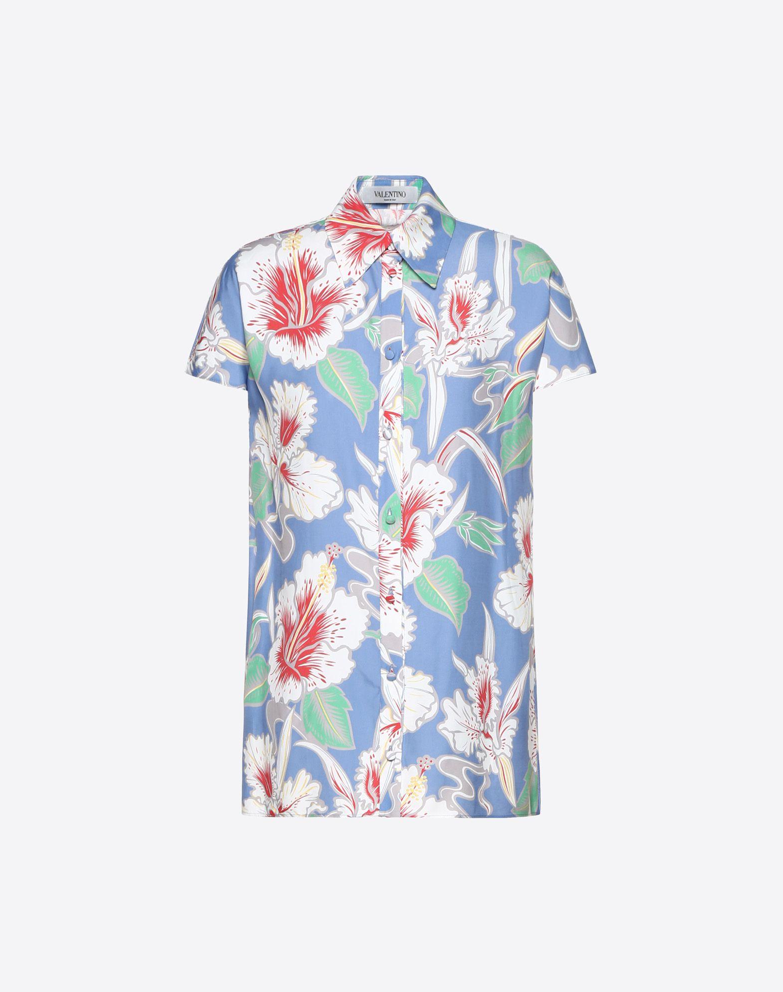 Hawaiian Hibiscus Viscose Canvas Shirt