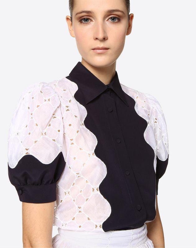Camisa de organdí Damier