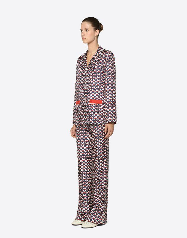 Valentino Scale Twill Pajama Shirt