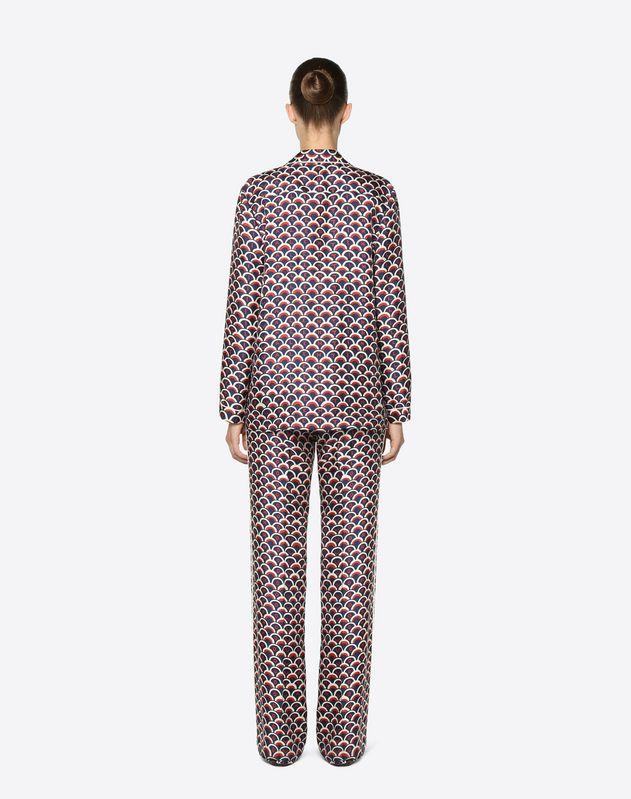 Valentino Scale 斜纹睡衣式衬衫