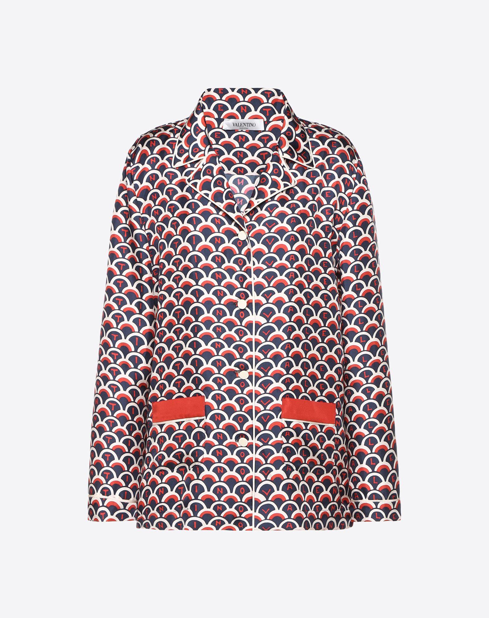 Valentino Scale Twill Pyjama Shirt