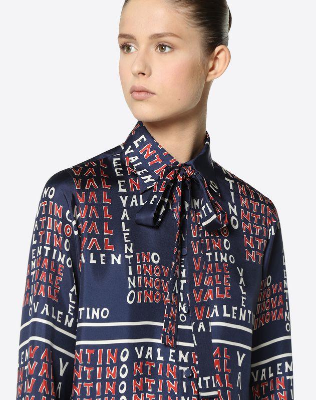 Camicia in Twill Valentino Puzzle