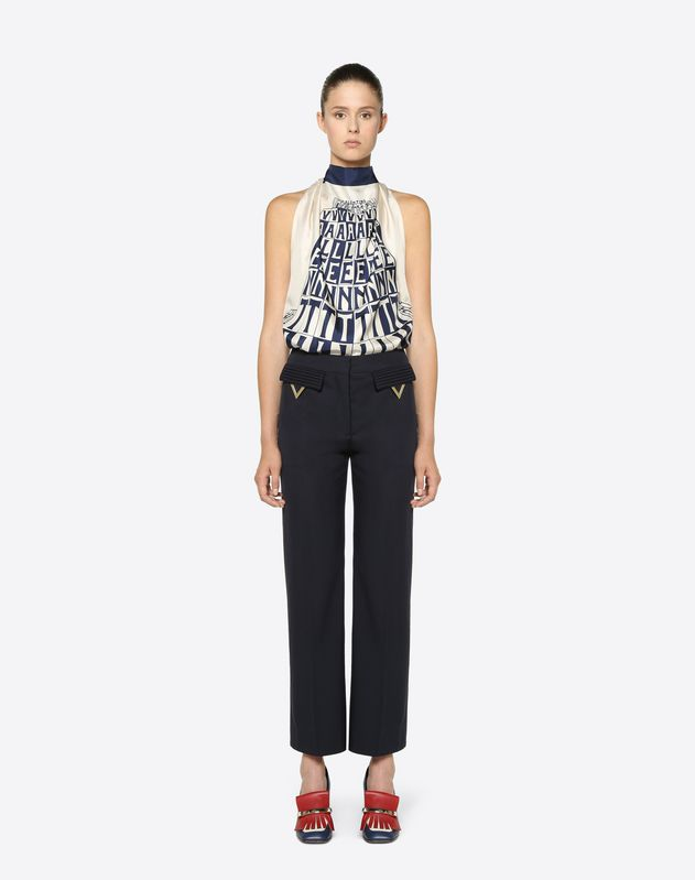 Valentino Tower Twill Top