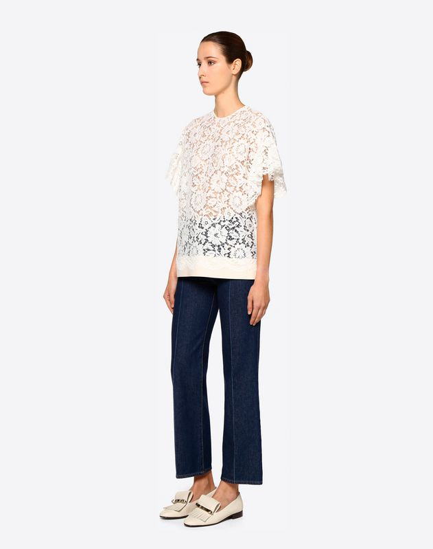 Crêpe Couture and Heavy Lace Top