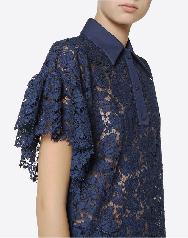 Top in Crepe Couture e Heavy Lace
