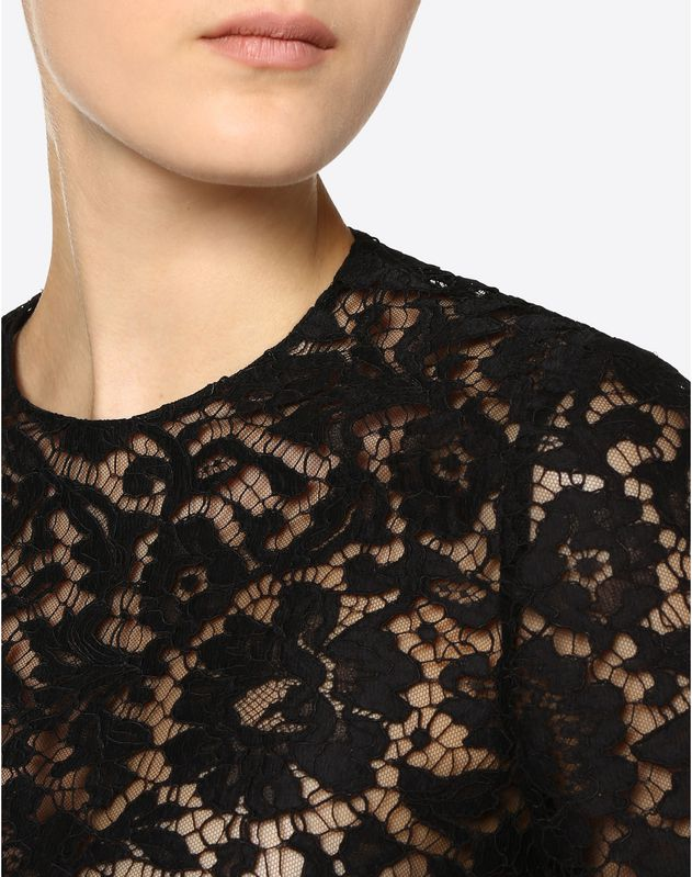 Crepe Couture and Heavy Lace Top