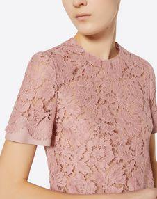 Top aus Crêpe Couture und Heavy Lace
