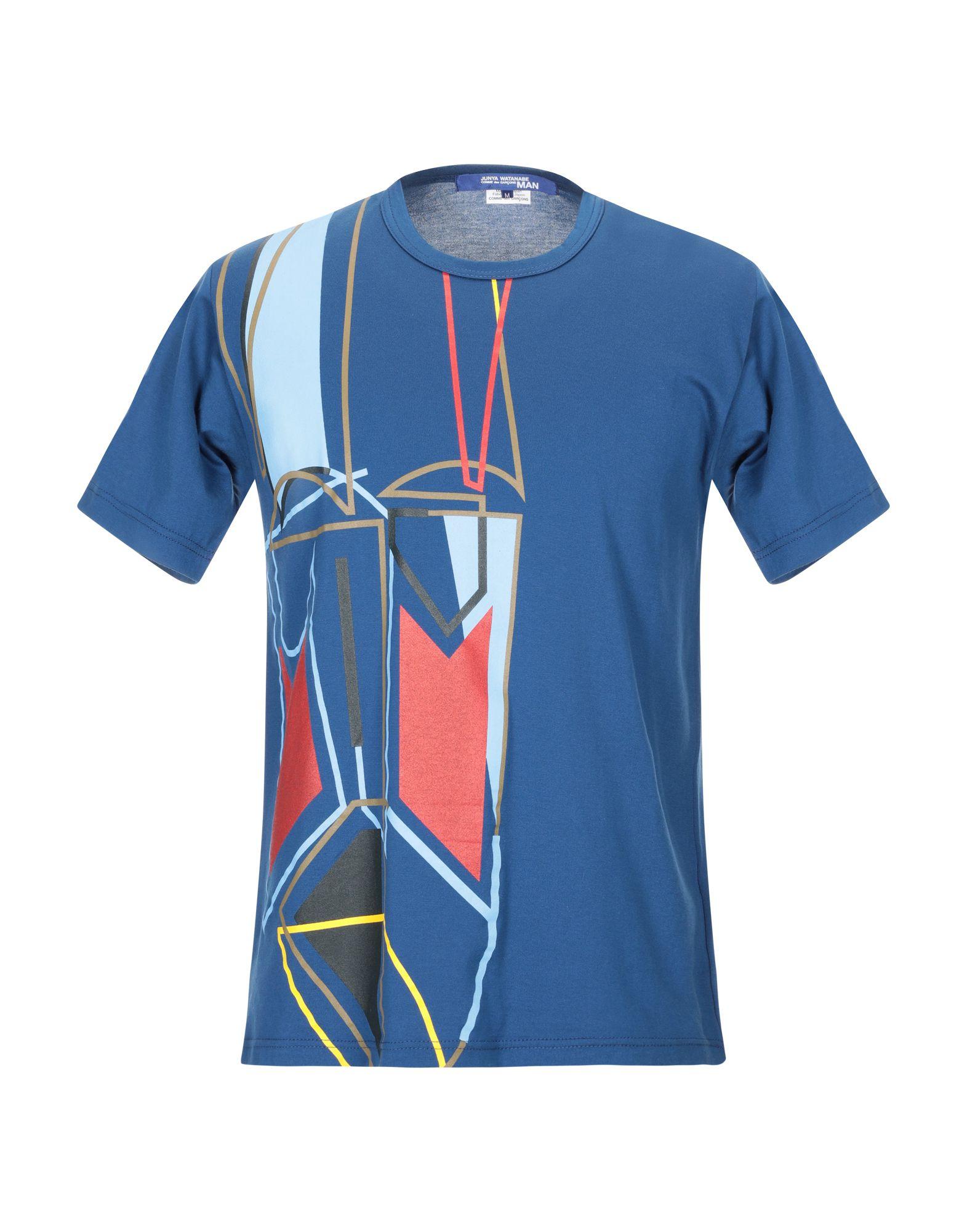 《セール開催中》JUNYA WATANABE メンズ T シャツ ダークブルー S コットン 100%