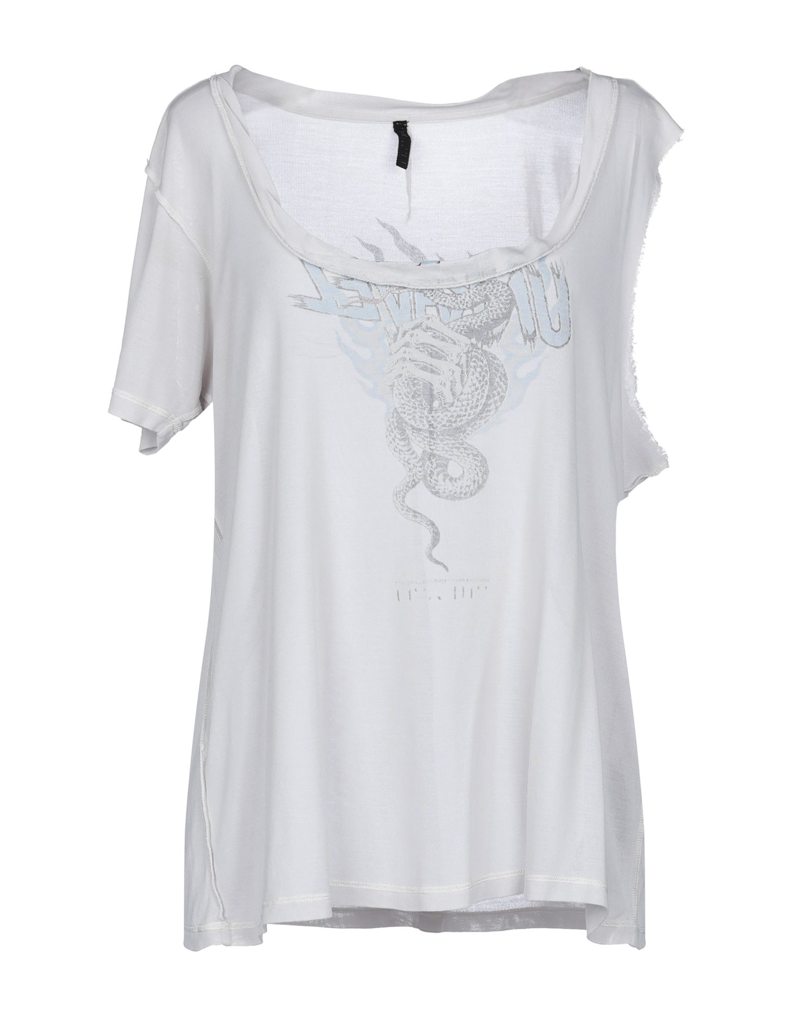 《セール開催中》BEN TAVERNITI? UNRAVEL PROJECT レディース T シャツ ライトグレー S シルク 100%