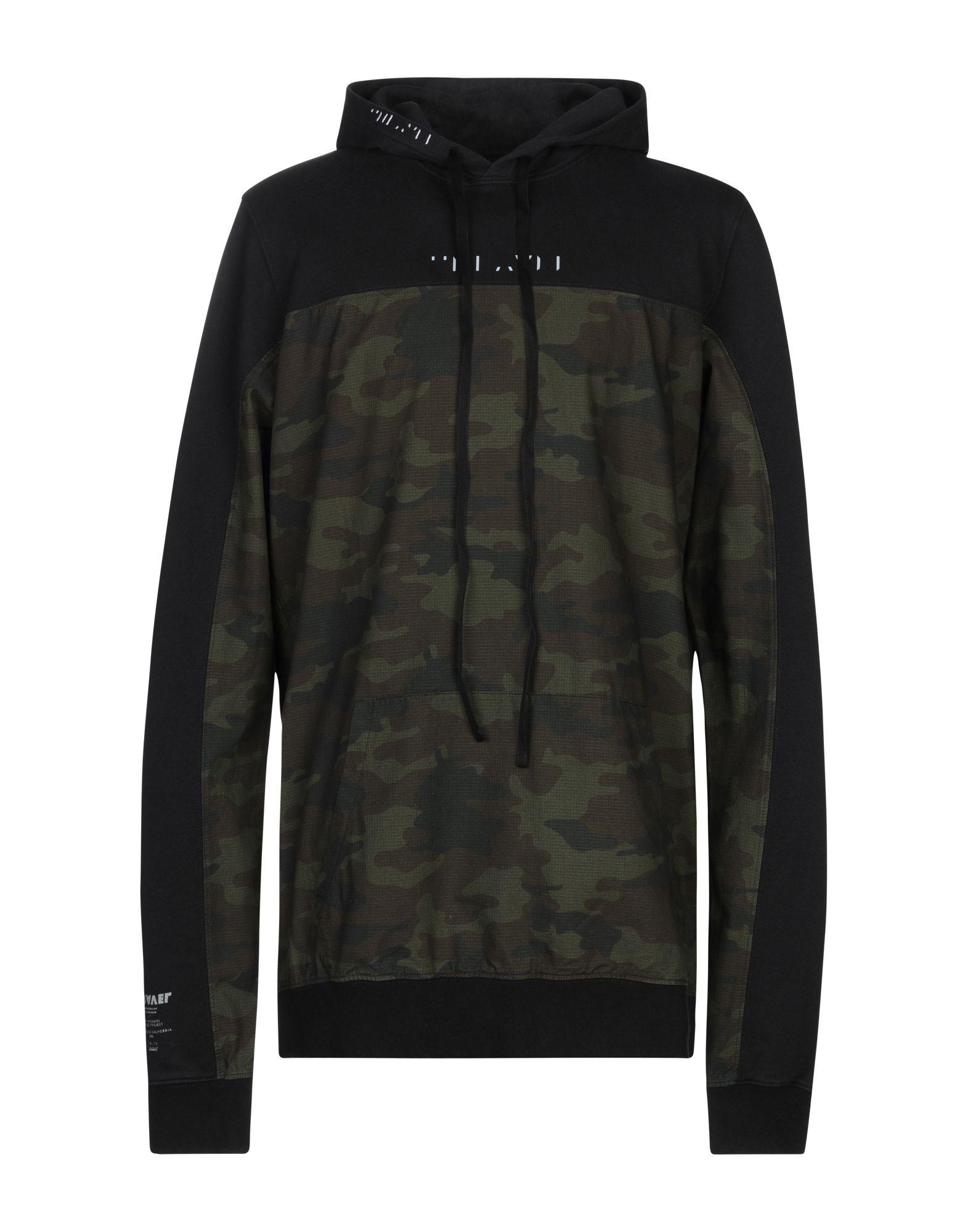 《セール開催中》BEN TAVERNITI? UNRAVEL PROJECT メンズ スウェットシャツ ブラック S コットン 100% / レーヨン / ポリウレタン / ポリエステル