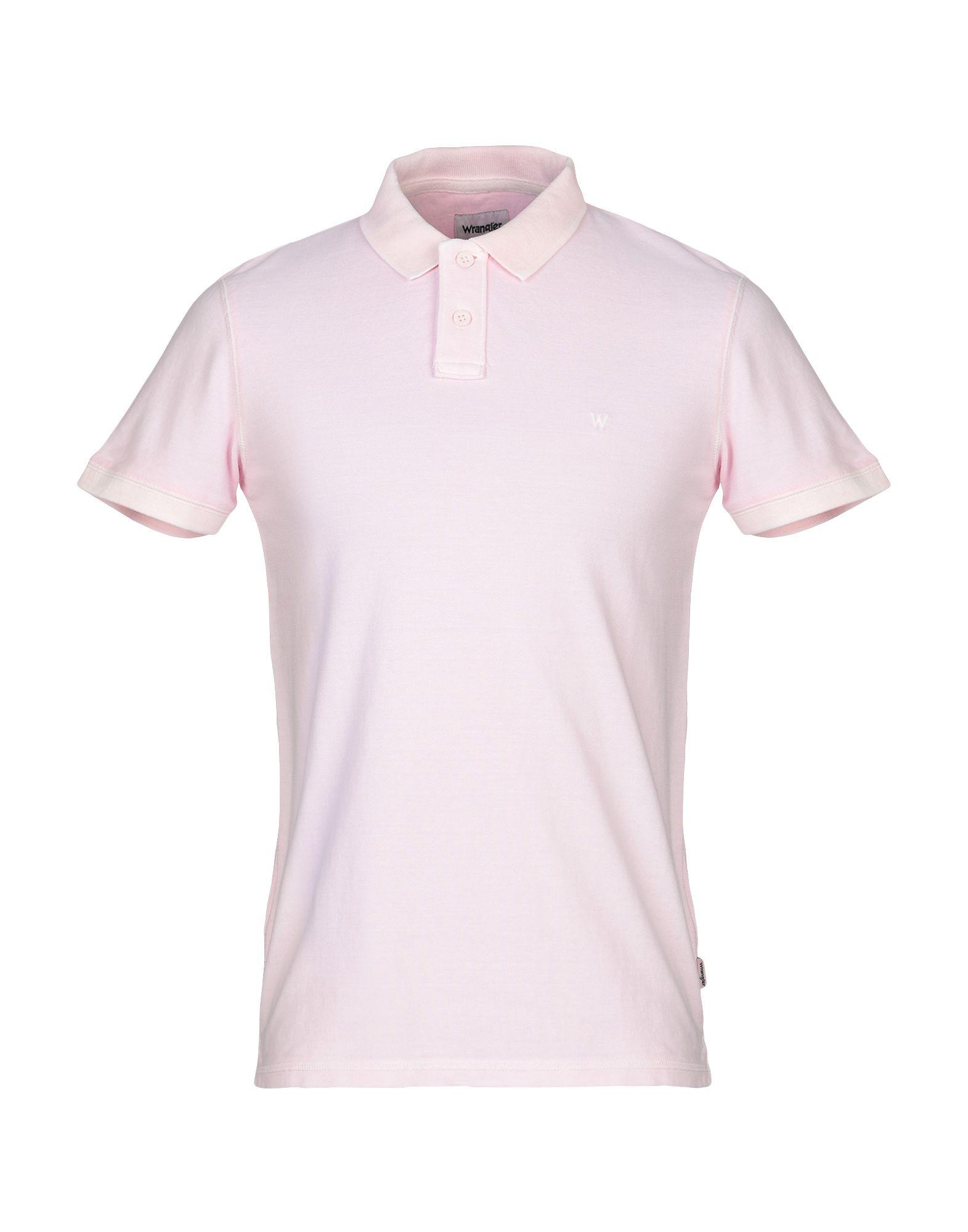 《送料無料》WRANGLER メンズ ポロシャツ ピンク S コットン 100%