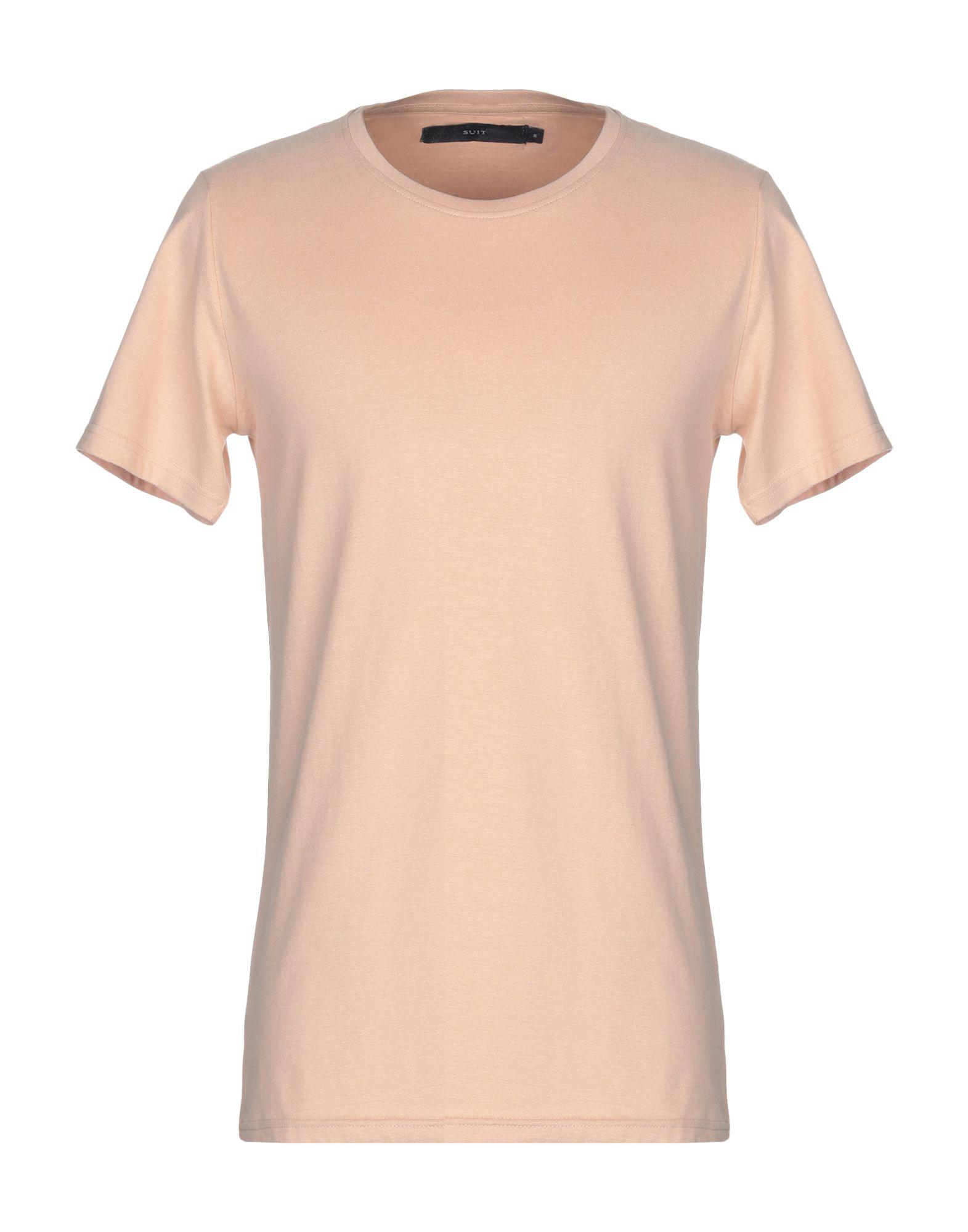 《送料無料》SUIT メンズ T シャツ ローズピンク M コットン 100%