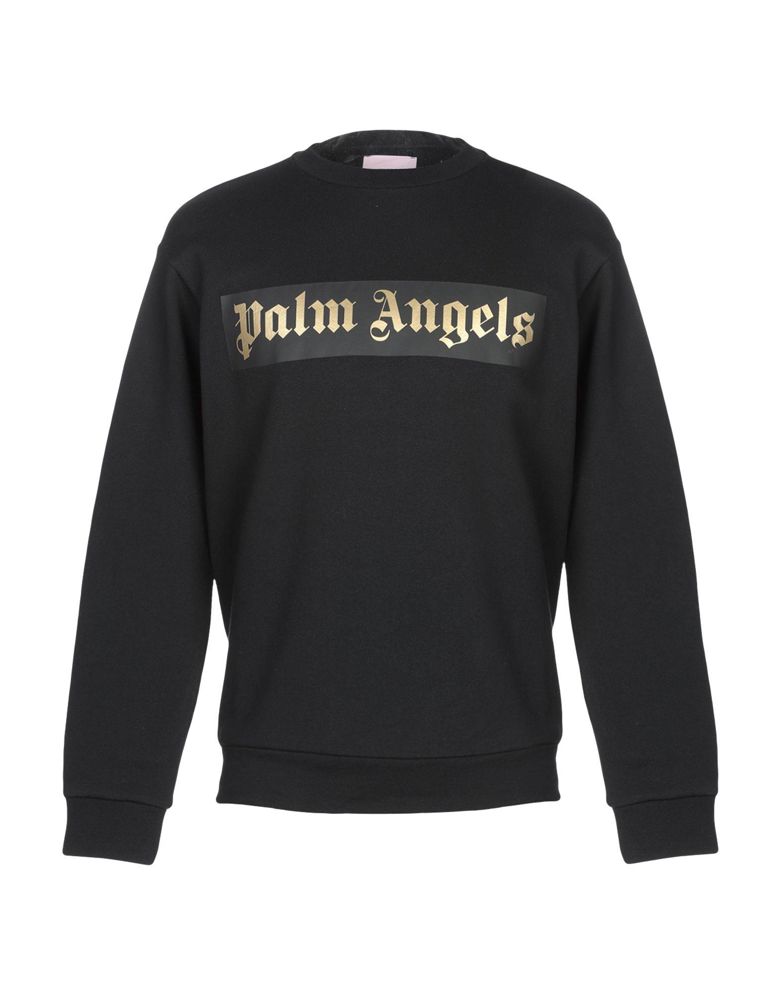《送料無料》PALM ANGELS メンズ スウェットシャツ ブラック XS コットン 100%