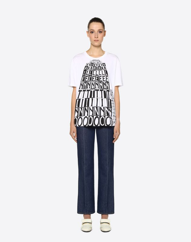 Valentino Tower Cotton Jersey T-Shirt