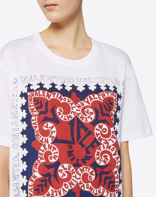 T-Shirt aus Baumwolljersey Mini Bandana