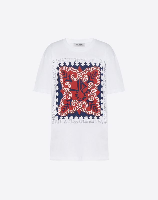 T-shirt in Cotone Jersey Mini Bandana