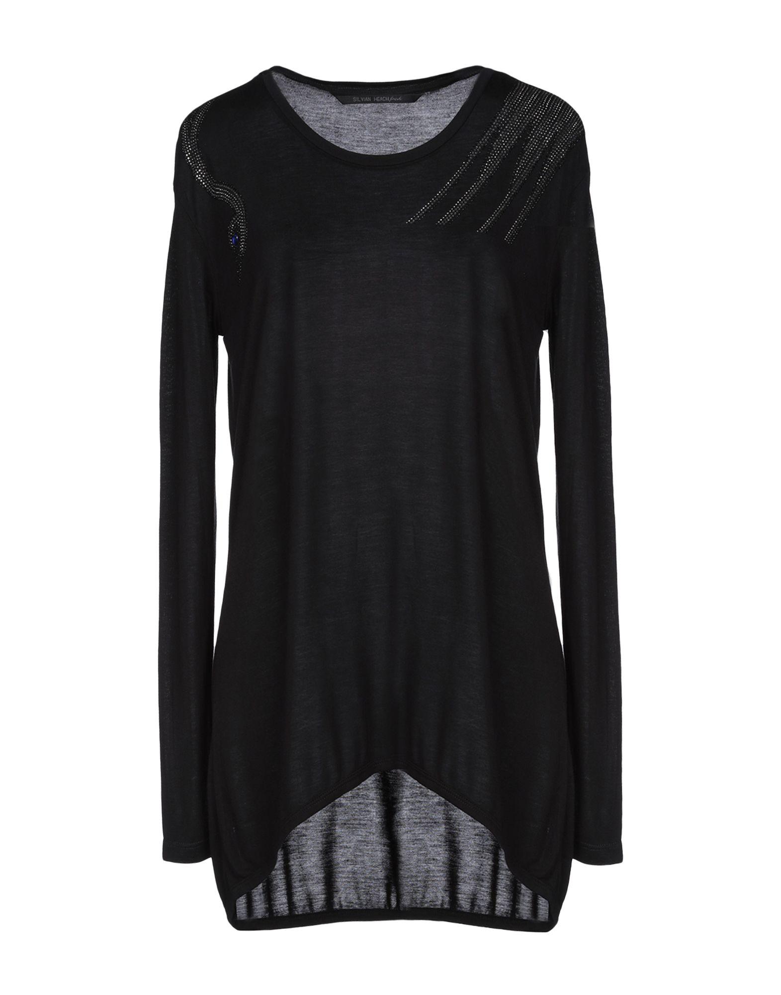 《送料無料》SILVIAN HEACH レディース T シャツ ブラック XS レーヨン 100%