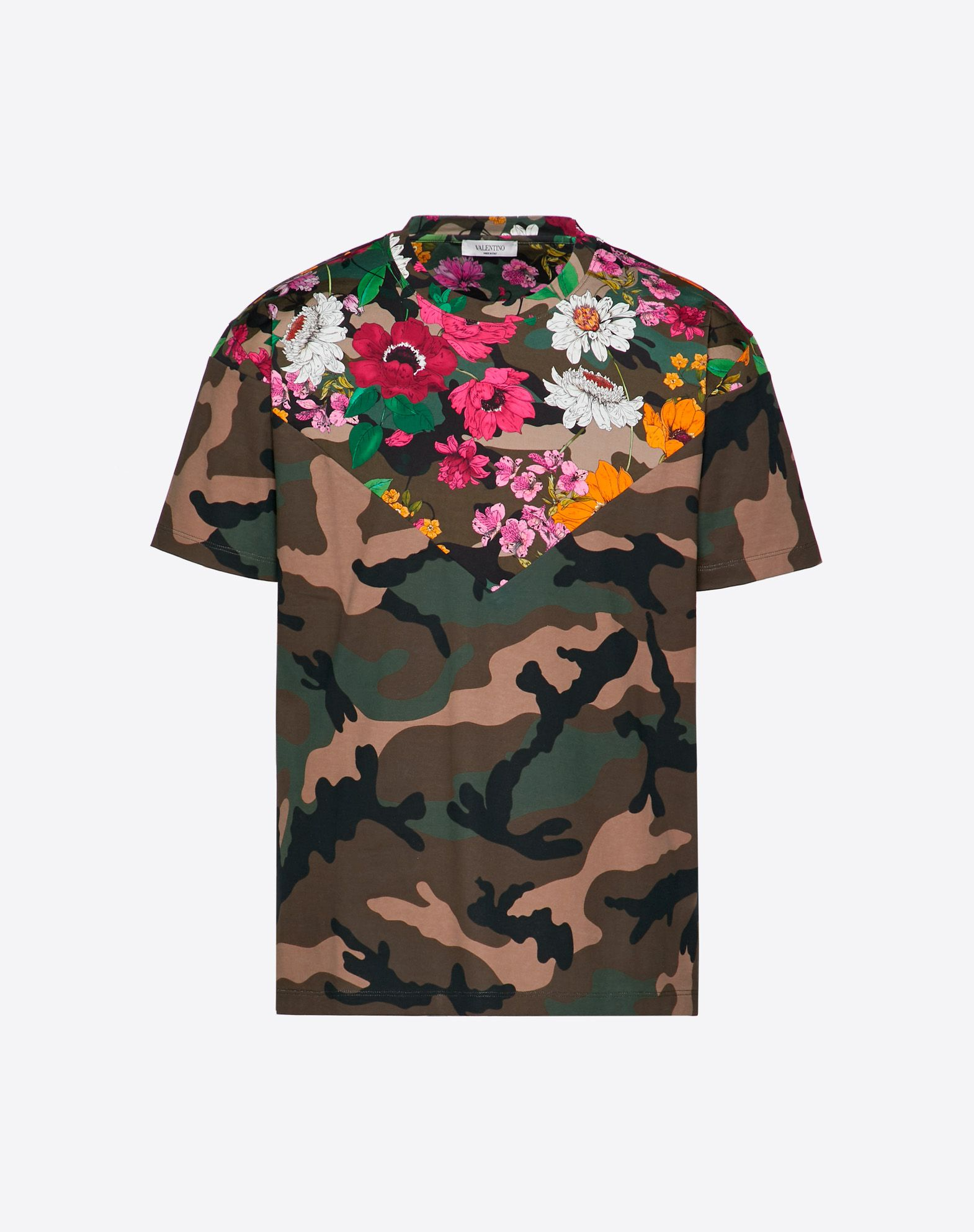 T-SHIRT WITH DEW CAMOU PRINT