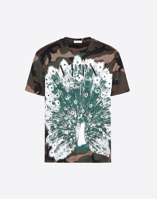 CAMOUFLAGE T-SHIRT WITH  ANIMAL PRINT