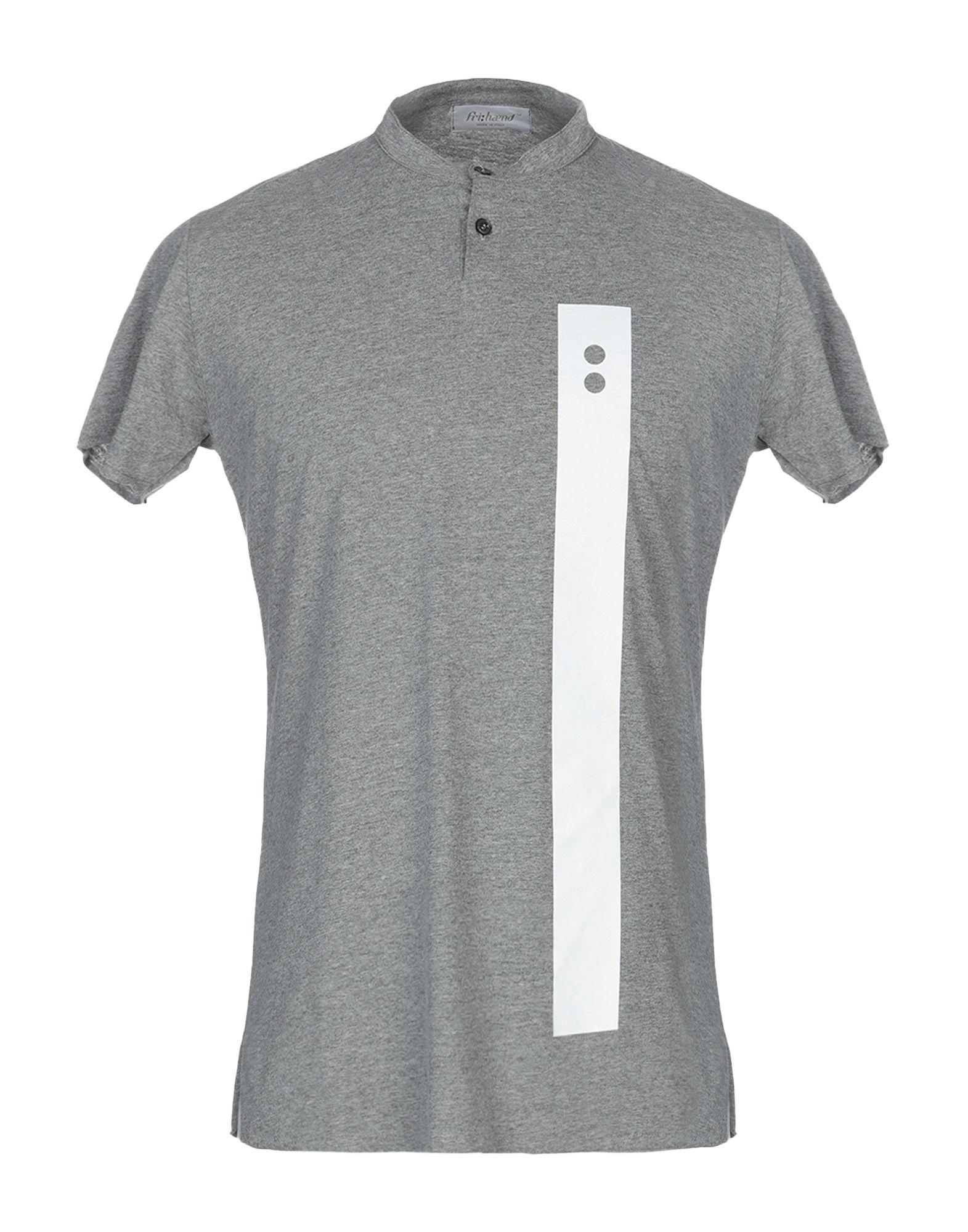 《送料無料》FRI: HAEND メンズ T シャツ グレー S コットン 100%
