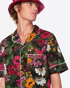 DEW CAMOU SHORT-SLEEVE SHIRT WITH PIPING