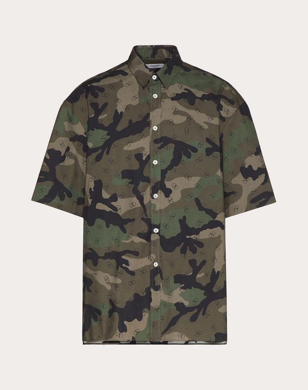 SHORT-SLEEVE SHIRT WITH VLOGO PRINT