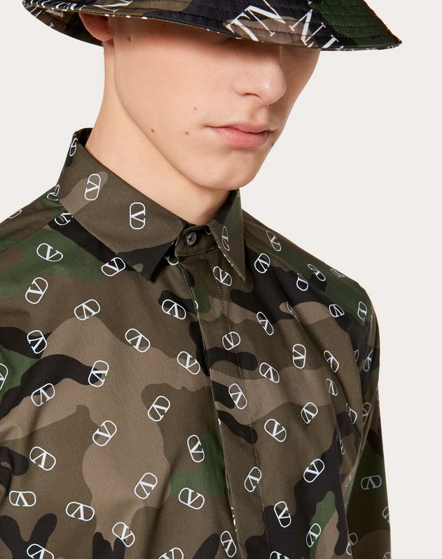 LONG-SLEEVED CAMOUFLAGE VLOGO SHIRT