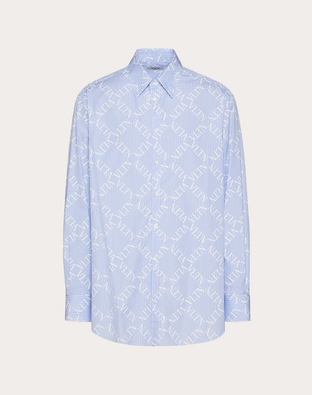 OVERSIZE SHIRT WITH VLTN GRID PRINT