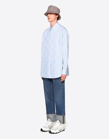 VLTN Grid 印纹阔型衬衫
