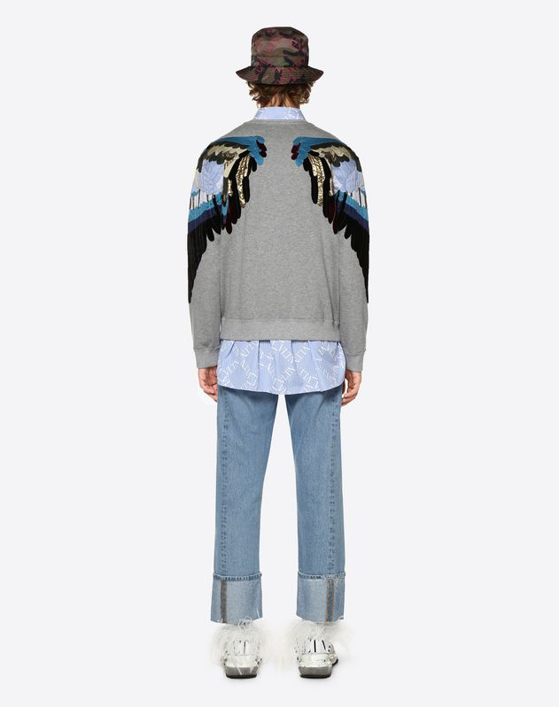 SWEATSHIRT WITH EMBROIDERED ANGEL WINGS