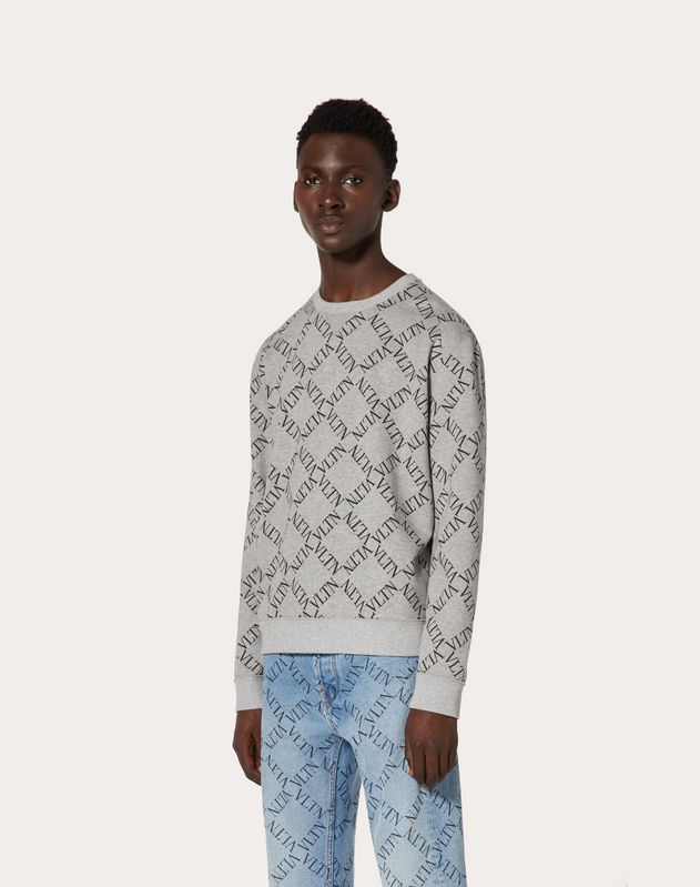 SWEAT-SHIRT À COL ROND VLTN GRID