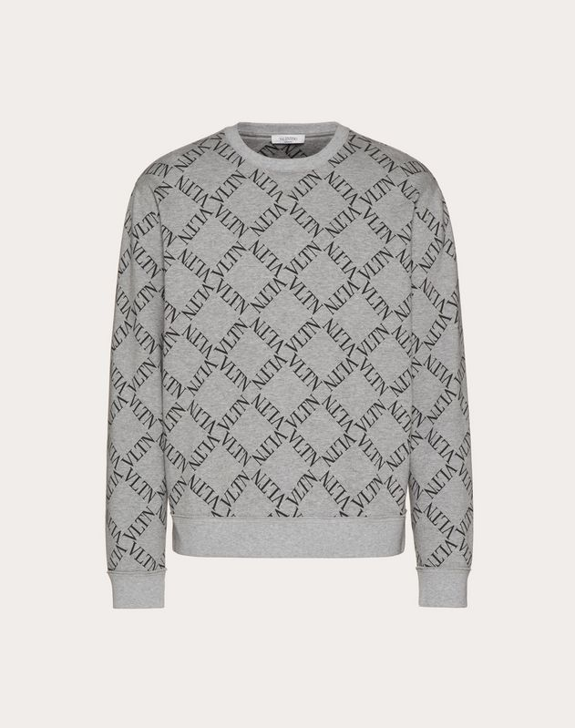 VLTN GRID CREW-NECK SWEATSHIRT