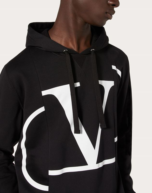 DECONSTRUCTED GO LOGO HOODED SWEATSHIRT